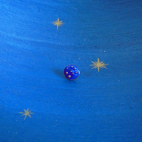 Pierced earring #1 blue