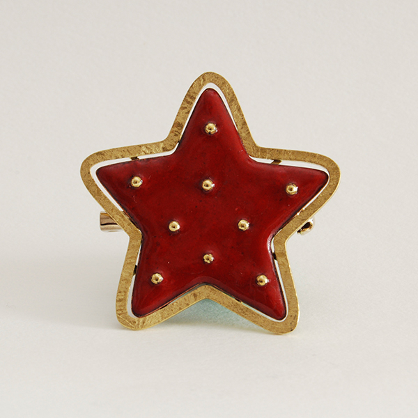 Brooch - red